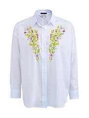 ฿1490 EASY PIECES เสื้อเบลาส์ รุ่น 1703LLS010 ไซส์ L สีฟ้า ลายทาง