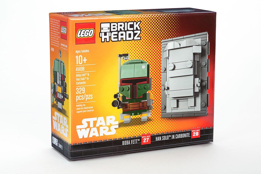 LEGO Star Wars BrickHeadz 41498 - Boba Fett & Han Solo in Carbonite