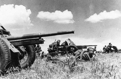Soviet 45-mm anti-tank guns 13th October 1942.