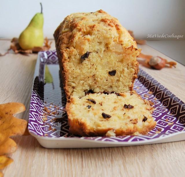 Cake poire chocolat sans gluten sans lactose