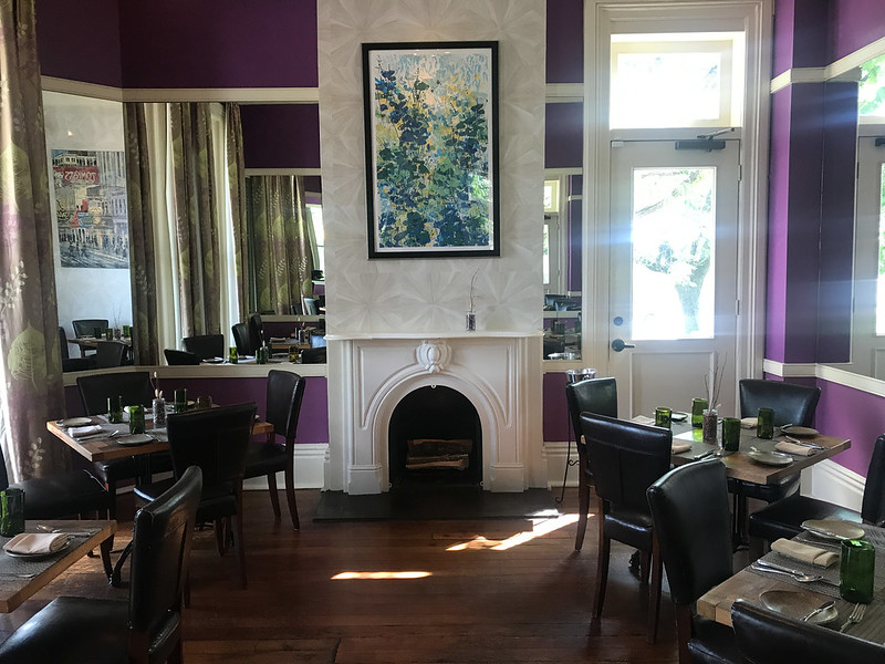 One of the dining rooms at Husk