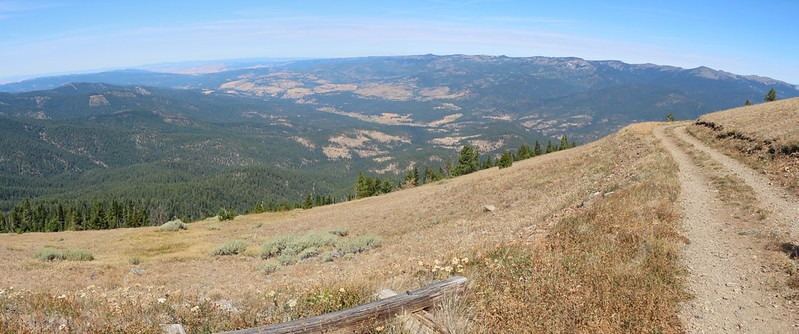 View north as we hike down toward camp from the Dixie Butte summit