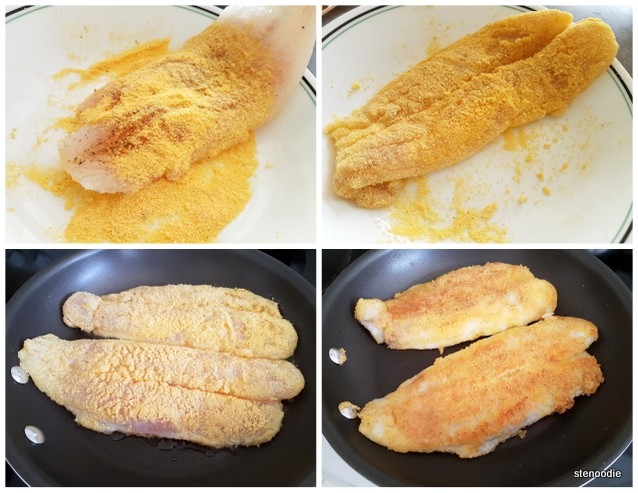 cornmeal-coated basa fillets