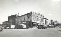 Milgrams 1950s - se corner of Lexington and main