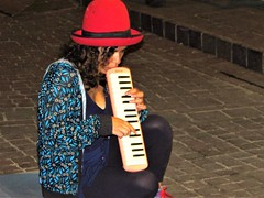 Girl with melodica