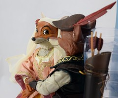 2017 Robin Hood and Maid Marian Designer Doll Set - Disney Store Purchase - Covers Off - Midrange Right Side View