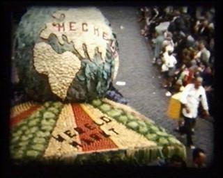Flower festival film still, Parade
