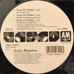 CE CE PENISTON:KEEP ON WALKIN'(LABEL SIDE-A)