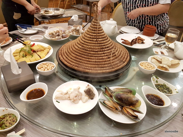 steamed pot feast