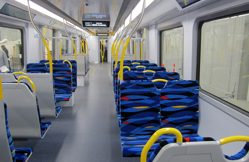 New train mock-up: Seating