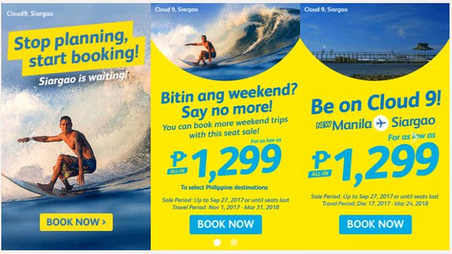 Manila to Siargao Cebu Pacific Air New Route