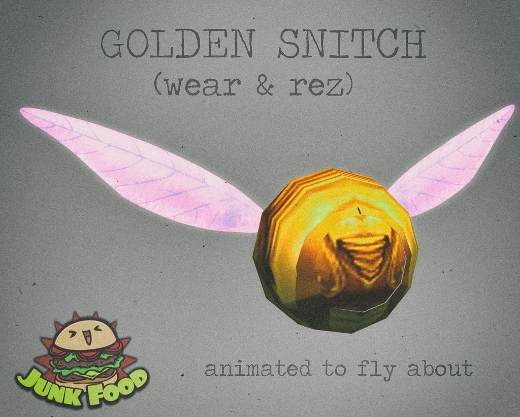 Junk Food - Golden Snitch Gift - TeleportHub.com Live!