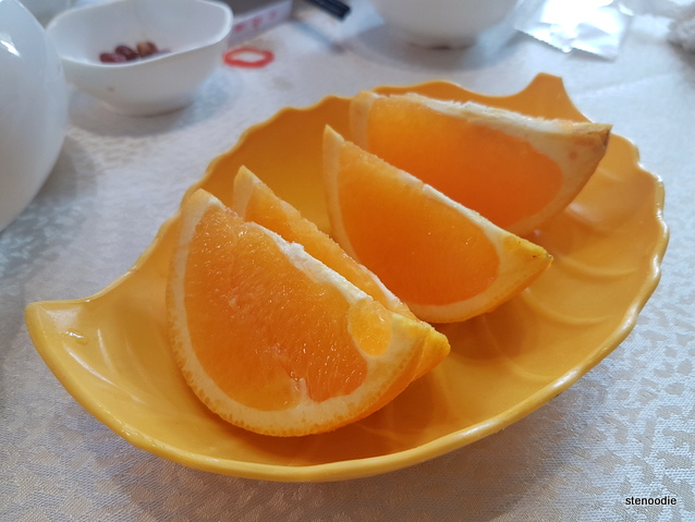 Platter of oranges