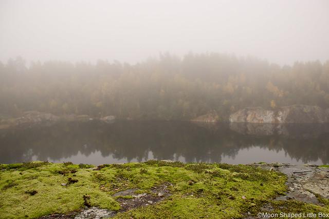 Polvijärvi Sola 2017 Syksyllä syksy syksyn tulo Sotkuma Visit Polvijärvi kuvauspaikka sumuinen päivä