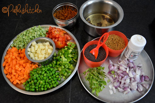 ingredients for making bisi bela bath