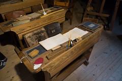 Antique German schooldesk