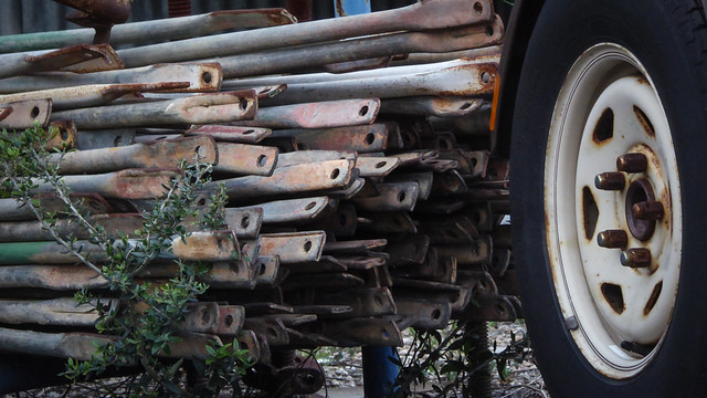 Scaffolding and Trailer Tyre