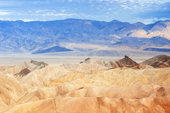 Zabriskie Point Mountain Range in East Part of Death Valley National Park in California, USA.