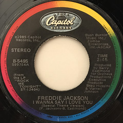 FREDDIE JACKSON:YOU ARE MY LADY(LABEL SIDE-B)