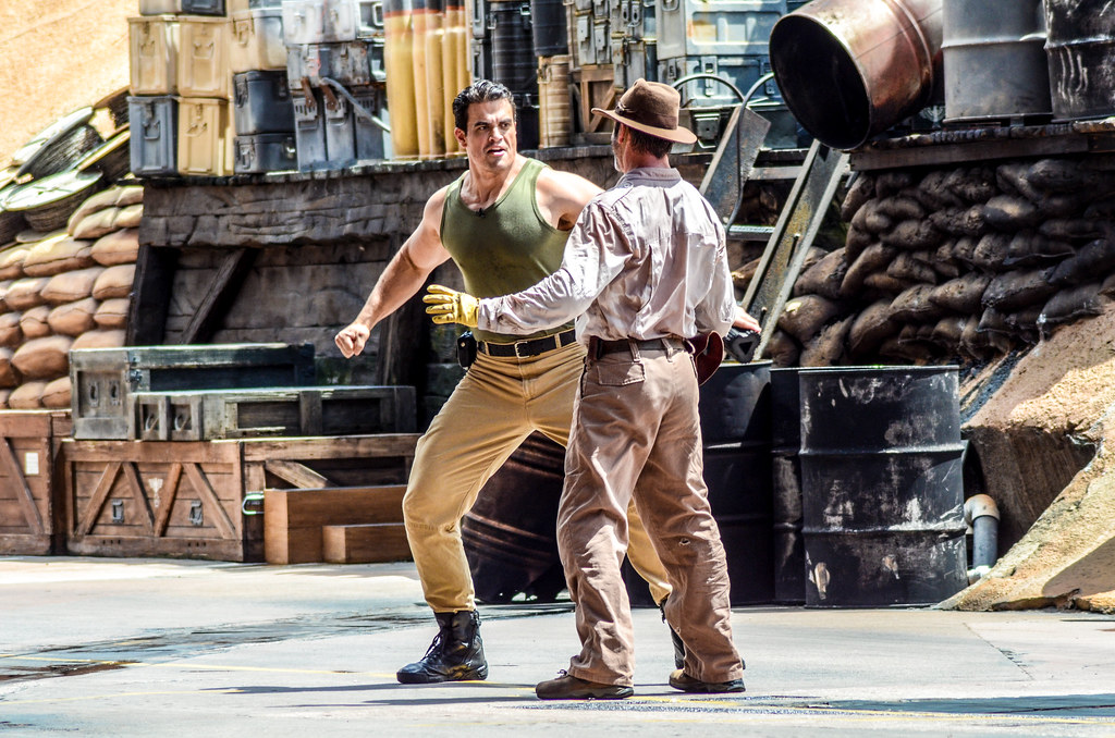 Indy getting punch Dhs stunt show