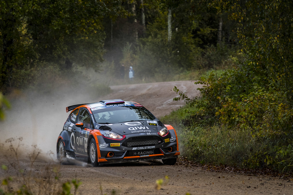 03 Lukyanuk Alexey and Arnautov Alexey, Russian Performance Motorsport, Ford Fiesta R5 action during the 2017 European Rally Championship ERC Liepaja rally,  from october 6 to 8, at Liepaja, Lettonie - Photo Gregory Lenormand / DPPI