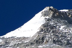 Besteigung Mount Everest. Die letzten 50 Höhenmeter zum Gipfel des Mount Everest, 8848 m. Foto: Archiv Härter.
