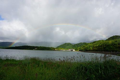 恐山へ。虹がきれい