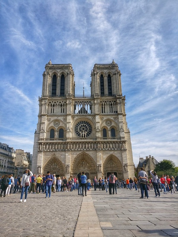 The exterior of the Notre Dame, Paris