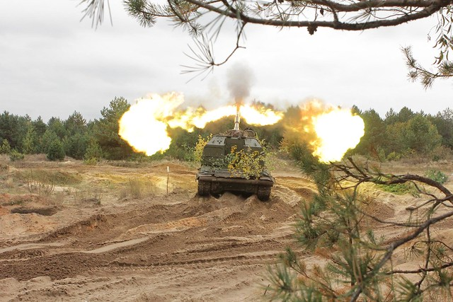 На Чернігівщині триває першість Сухопутних військ на кращу артилерійську батарею