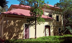 Unley. Mornington House built from 1857 in stages for Jacob Pitman and later Luther Scammell senior owner of Faulding Chemical Company from 1868. This part of the house was built around 1880. Scammells still owned the house in 1915