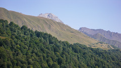 Widok z bazy Zeskho na Marjanishvili 3555m, ktory zbobyliśmy.