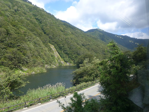 荒川 arakawariver 米坂線 yonesakaline 車窓 window 山形県小国町 oguniyamagata