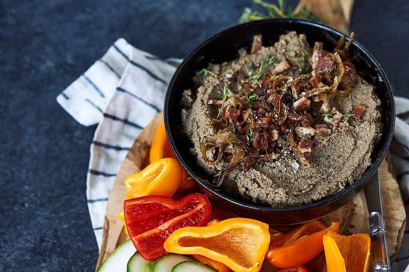 Caramelized Onion Bacon Liver Pâté