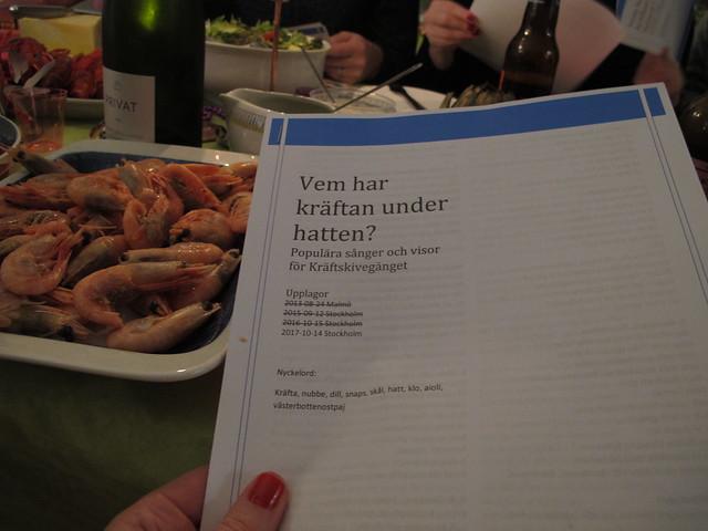saturday, kräftan under hatten, cray fish party, stockholm