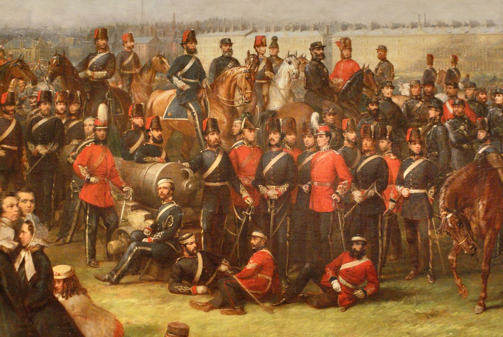 Peinture militaire au musée Kelvingrove de Glasgow.