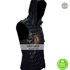 Watch Dogs 2 Wrench Cosplay Dedsec Studded Hoodie Vest