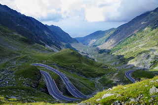 One of the most beautiful mountain roads in the world located in the Carpathian Mountains of Romania