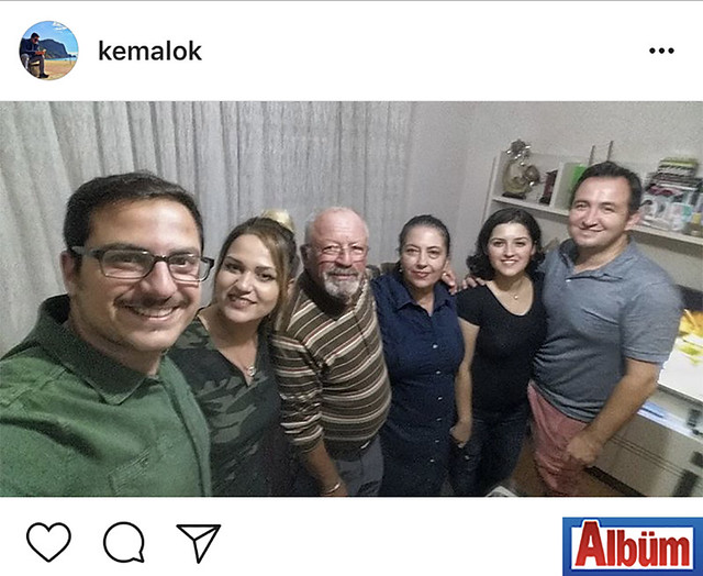 Özel Alanya Final Ortaokulu'nda Matematik Öğretmeni olan Kemal Ok, babasının doğum günü kutlamasından paylaştığı bu fotoğrafla beğeni topladı.
