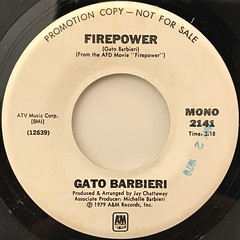 GATO BARBIERI:FIREPOWER(LABEL SIDE-B)