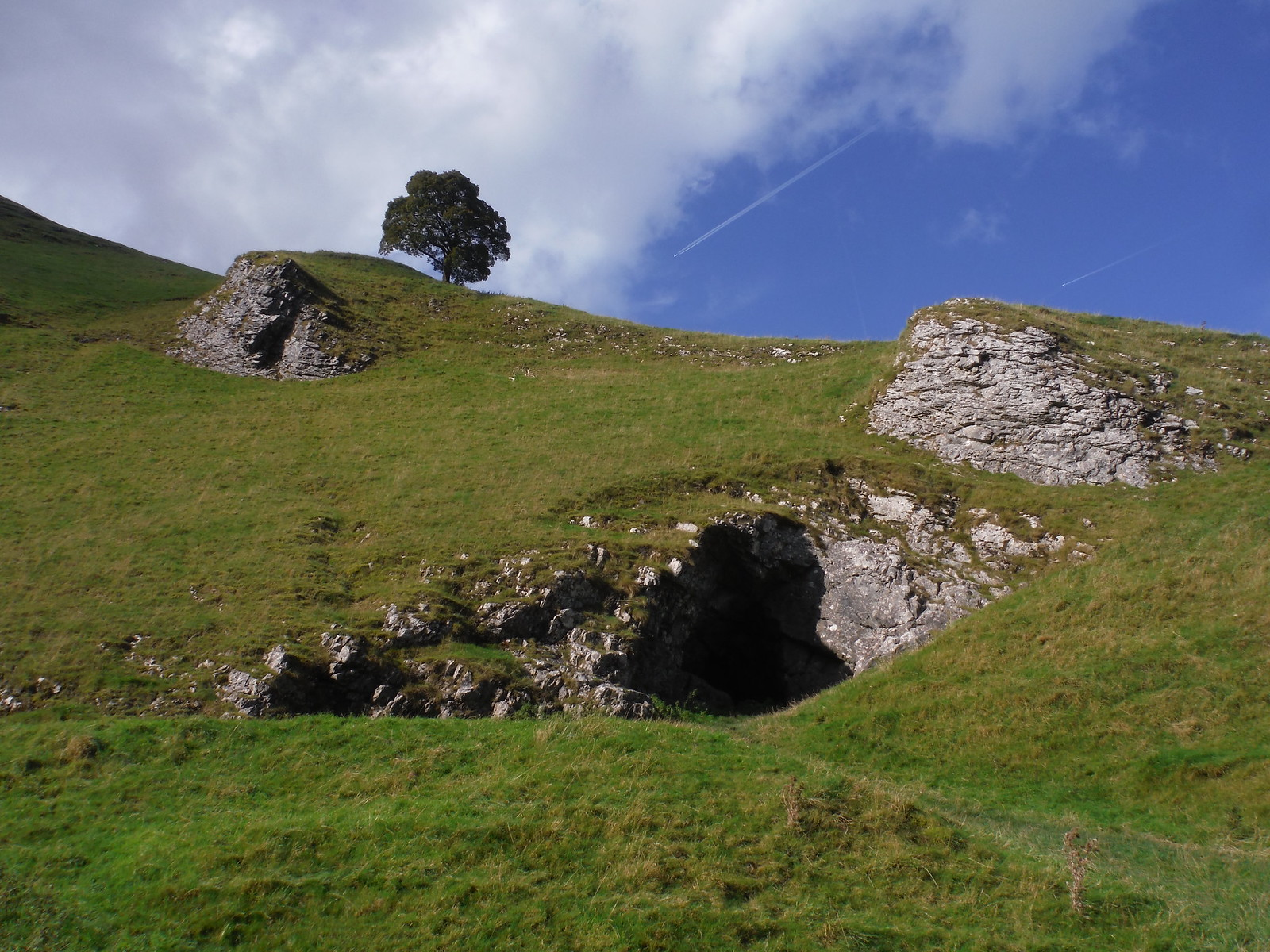 Cave Entrance, Winnats Pass SWC Walk 302 - Bamford to Edale (via Win Hill and Great Ridge) [Castleton Alternatives]