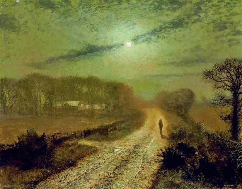 A Moonlit Landscape by John Atkinson Grimshaw