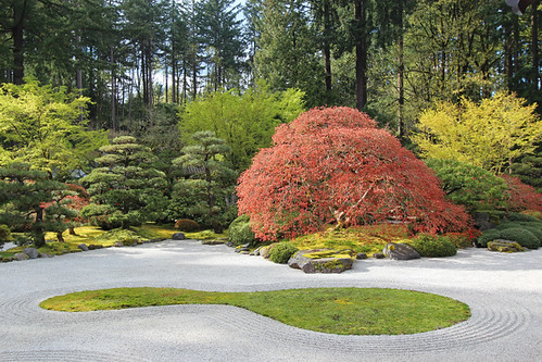 portland japanese garden april 2017 or oregon