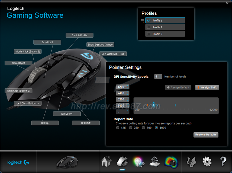 Logitech Gaming Software - G502 Proteus Spectrum