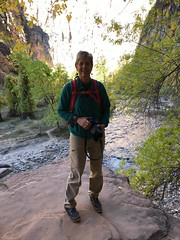 I look like a real hiker here