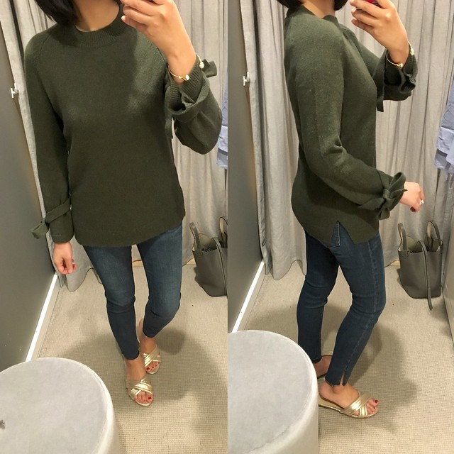 Ann Taylor Wool Cashmere Tie Sleeve Sweater, size XXSP