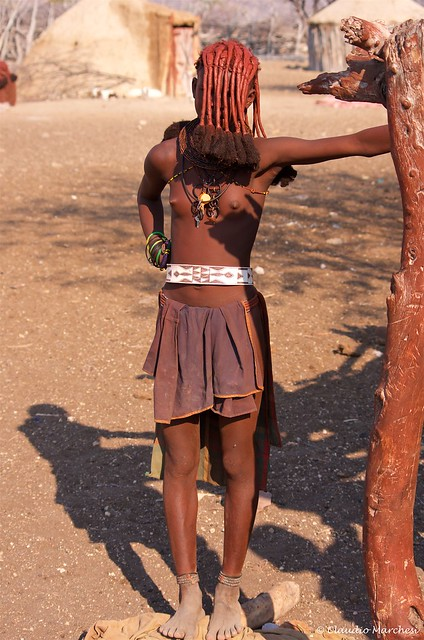 IMGP1171 Himba teenager with special hairstyle