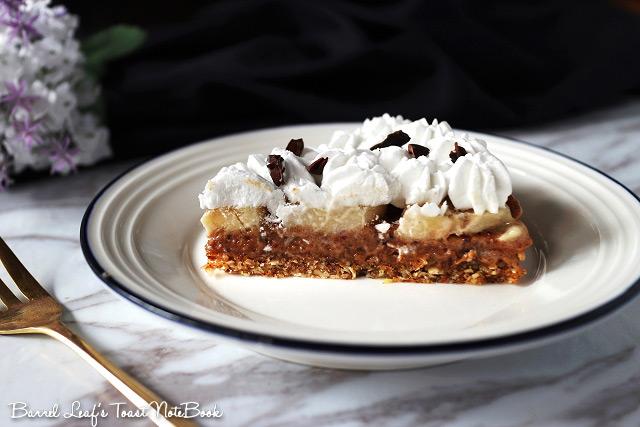 純素香蕉太妃派 Vegan Banoffee Pie (4)