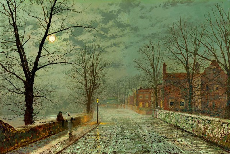 Bonchurch, the Isle of Wight by John Atkinson Grimshaw, 1880