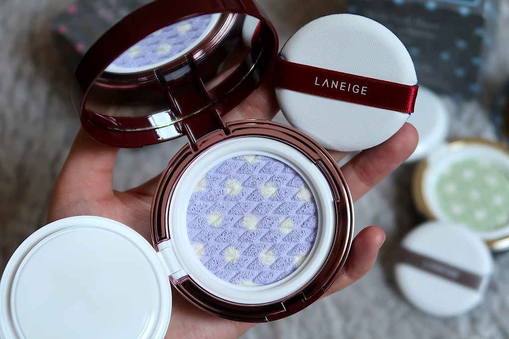 Skin Veil Base Dot Cushion Light Purple