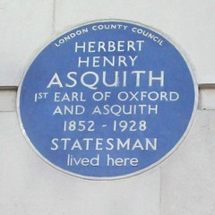Photo of Herbert Henry Asquith blue plaque